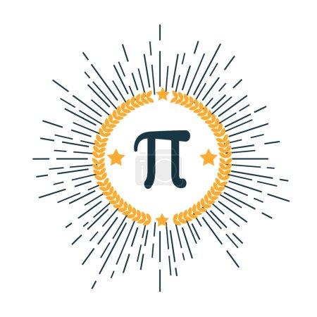 Mathematic Pi icon flat