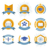 High education logos set