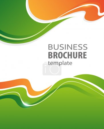 Illustration for Green and orange abstract vector Business background. Creative flyer design, poster, booklet, brochure - Royalty Free Image