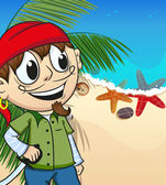 Pirate on desert island
