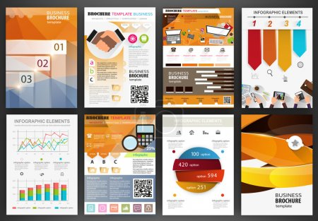 Business backgrounds and infographics