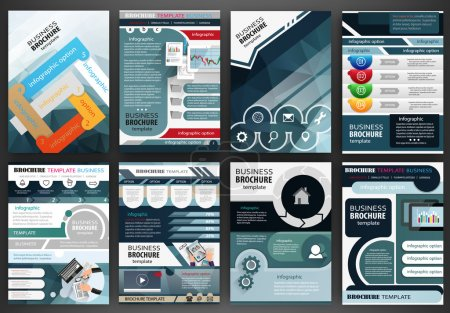 Business brochure template and infographics