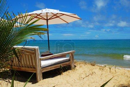 Seascape with sandy beach