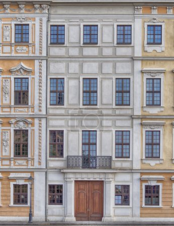 Vintage house facade, Dresden, Germany