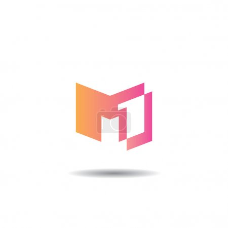 M one Monogram Minimalistic Logo