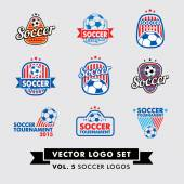 Soccer Football Vector Logo Set