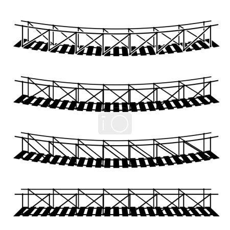 simple rope suspension hanging bridges