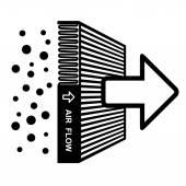 Symbol efekt filtru vzduchu