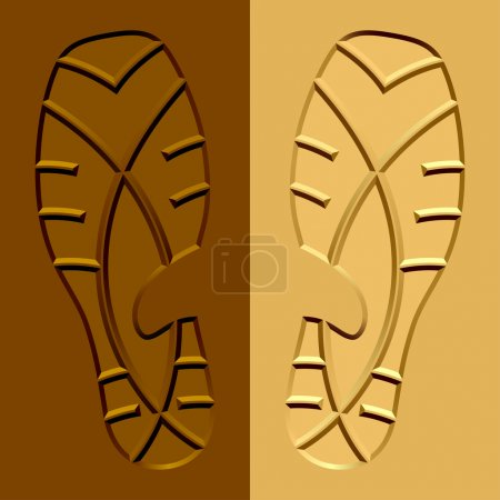 Shoe imprints mud sand