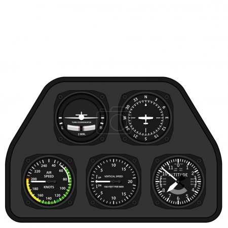 aviation airplane glider dashboard