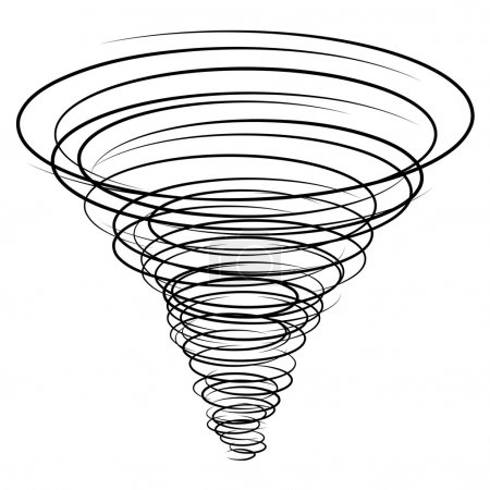 Black tornado symbol - illustration for the web...