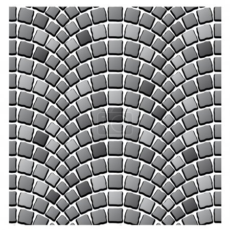 seamless cobblestone pavement pattern