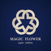 magic paper flower eternity emblem