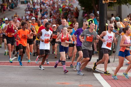 Thousands Run In Atlanta Peachtree Road Race