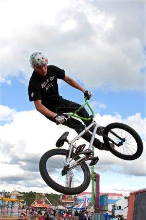 BMX Rider Performs Midair Stunt At Georgia State Fair
