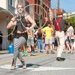 Постер, плакат: Circus Performers Entertain People At Atlanta Street Festival