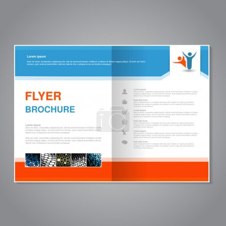 brochure with dotted design
