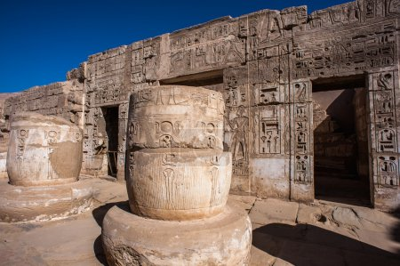 The Medinet Habu (Mortuary Temple of Ramesses III), West Bank of Luxor in Egypt