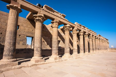 Photo pour Temple of Isis from Philae (Agilkia Island in Lake Nasser), Agilkia Island is a part of the UNESCO Nubia Campaign - image libre de droit