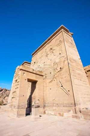 Photo pour Temple of Isis from Philae (Agilkia Island in Lake Nasser), UNESCO Nubia Campaign project - image libre de droit