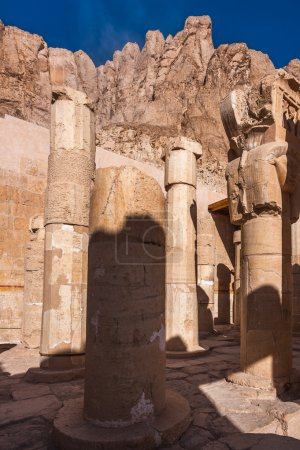 Part of the Mortuary temple of Hatshepsut (Dayr el...