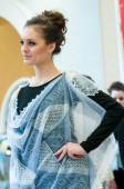 The girl in the Orenburg downy shawl,