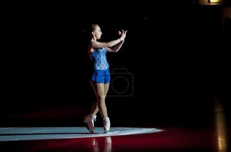 """Photo pour Orenburg, Russie - 28.03.2015: Compétitions de toute la Russie sur le patinage artistique """"Orenburg expanse"""". Patineuse artistique de fille - image libre de droit"""