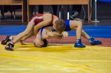 The boys compete in GrecoRoman