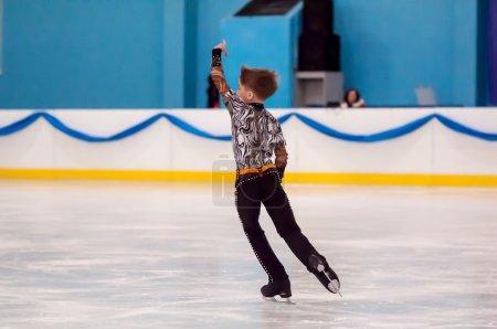 Boy in figure skating, Orenburg, Russia
