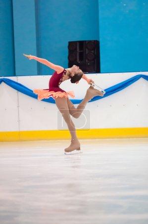 Girl figure skater, Orenburg, Russia