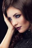 Romantic woman portrait with professional make up
