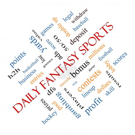 Daily Fantasy Sports Word Cloud Concept angled