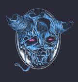 Blue Demon Skull