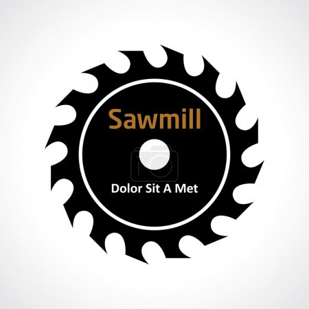 Illustration for Circular saw. sawmill icon. vector design element eps 8 - Royalty Free Image