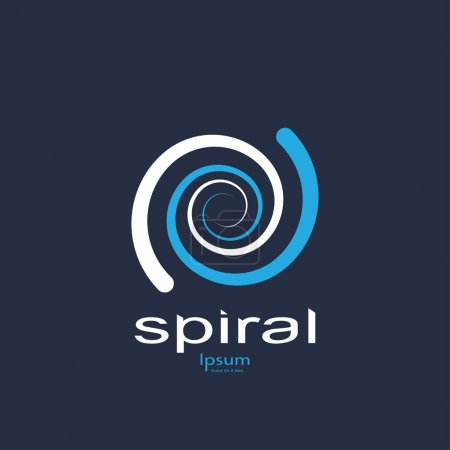 Illustration for Abstract spiral symbol. template logo design. vector eps8 - Royalty Free Image