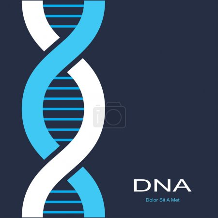 Illustration for Scientific background with symbol of dna. vector eps8 - Royalty Free Image