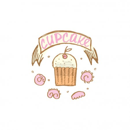 Illustration for Vector illustration of a cupcake - Royalty Free Image