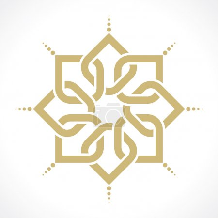 Illustration for Geometric arabic pattern - Royalty Free Image
