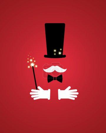 Illustration pour Accessoires magiciens - image libre de droit
