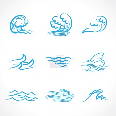 Illustration for Splashes of water waves - Royalty Free Image