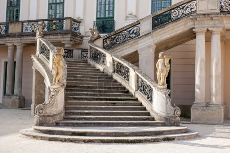Esterhazy Castle Stairs to the palace