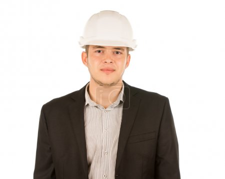 Half Body Young Male Engineer Portrait