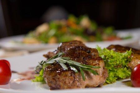 Tender Juicy Grilled Meat with Vegetables
