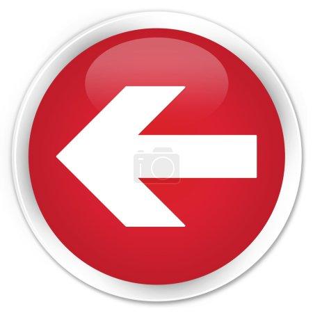 Photo pour Bouton rouge icône flèche vers la gauche - image libre de droit
