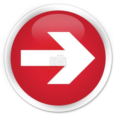 Photo pour Icône flèche suivante bouton rouge - image libre de droit