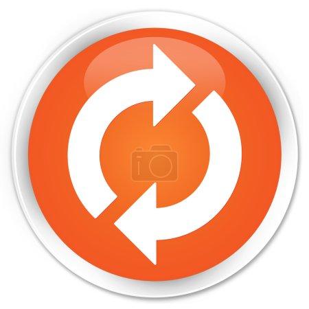 Photo pour Mise à jour le bouton icône orange - image libre de droit