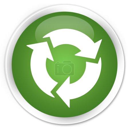 Photo pour Bouton de vert le processus de mise à jour - image libre de droit