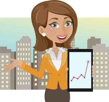 Illustration pour Illustration vectorielle d'une femme d'affaires prospère - image libre de droit
