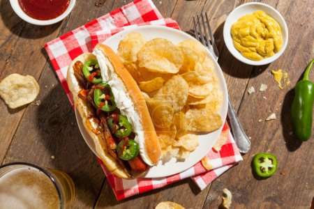 Homemade Seattle Style Hot Dog