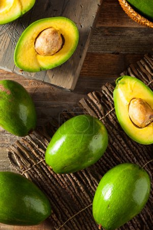 Raw Green Organic Florida Avocados